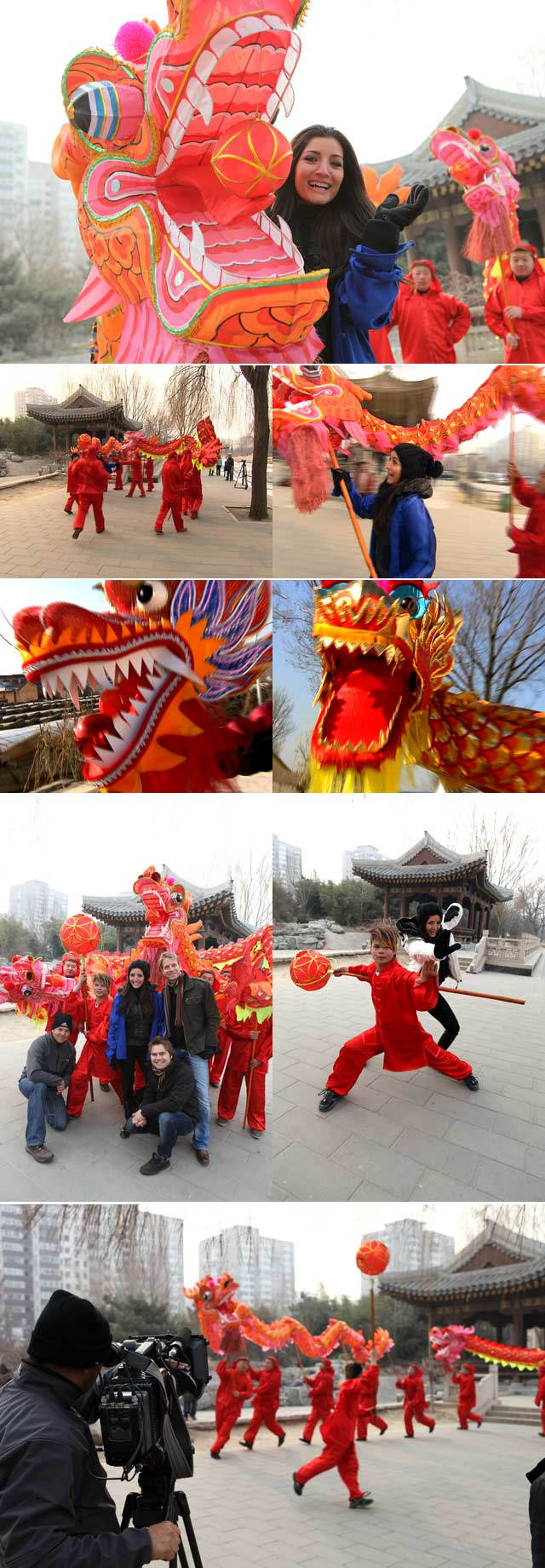 Dragon dancing in China