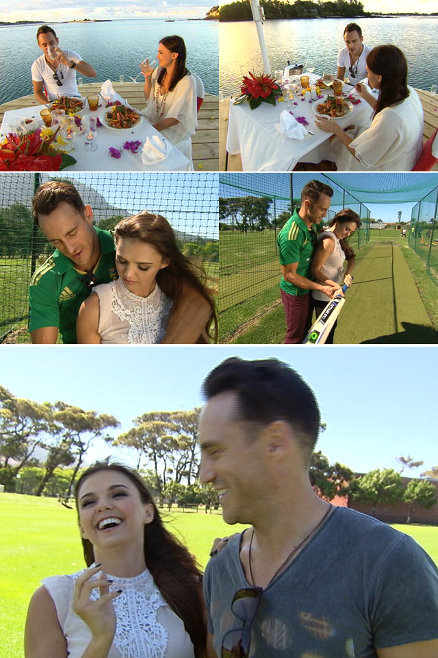 Faf du Plessis and his girlfriend on Top Billing