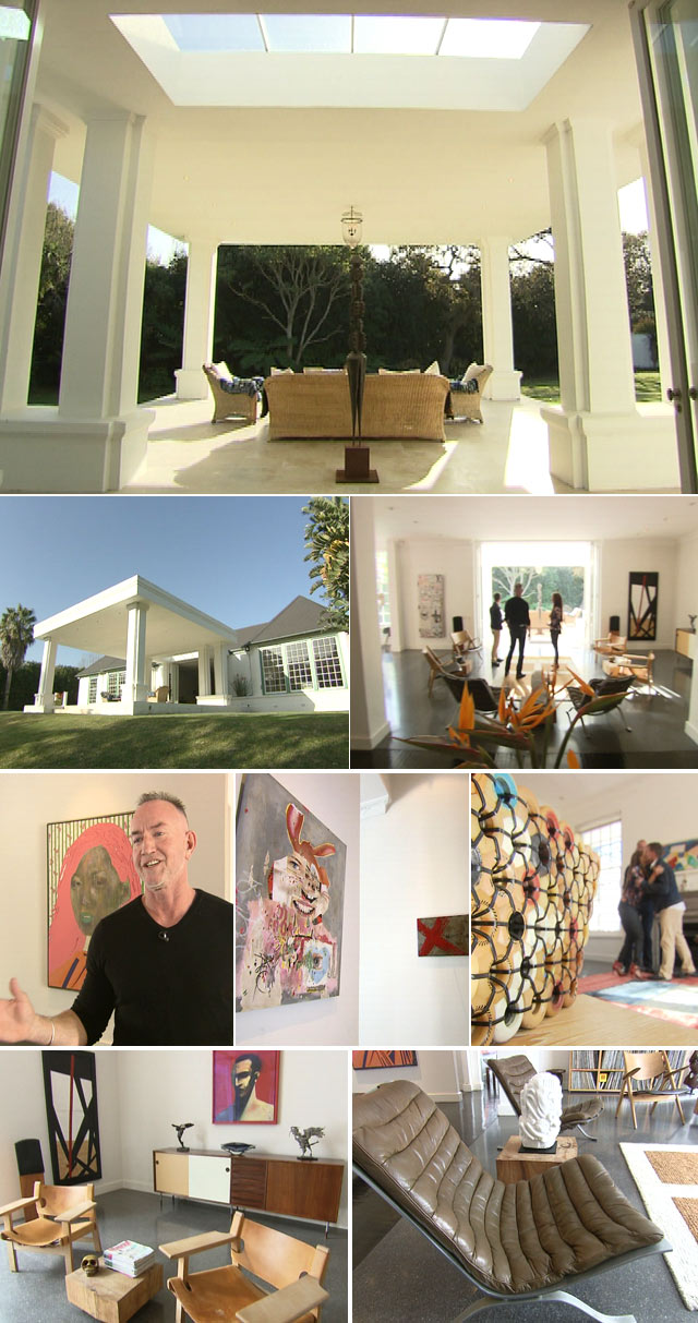 The Cape Town home of an art enthusiast featured on Top Billing