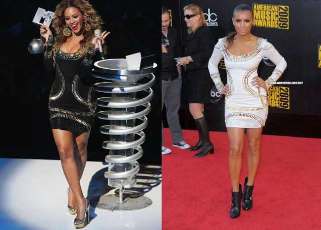 celebs wearing Herve Leger dress
