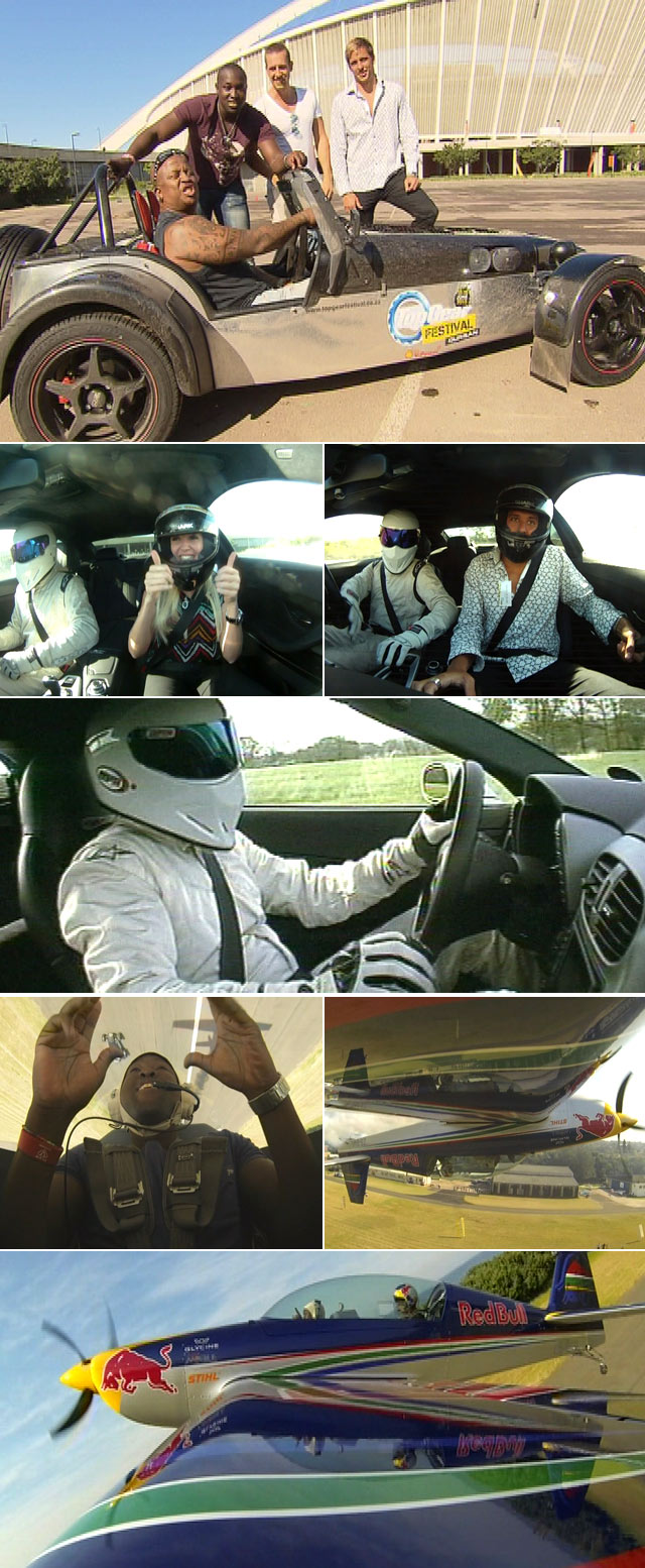 Top billing goes for a drive with The Stig