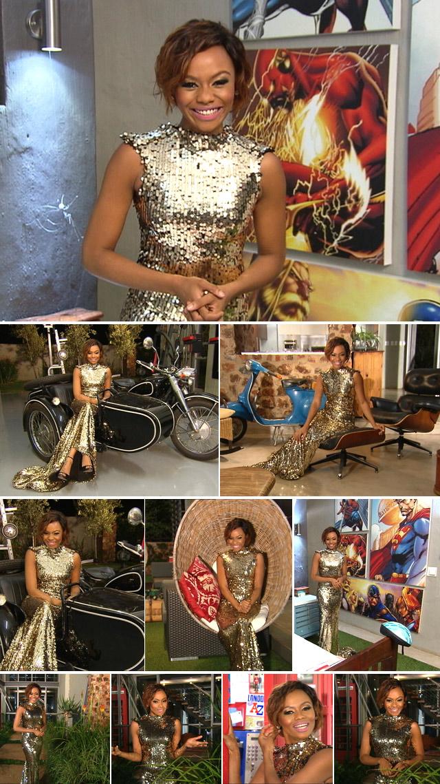 ... Bonang Matheba Sparkles In Gold Top Billing Presenter Bonang Matheba