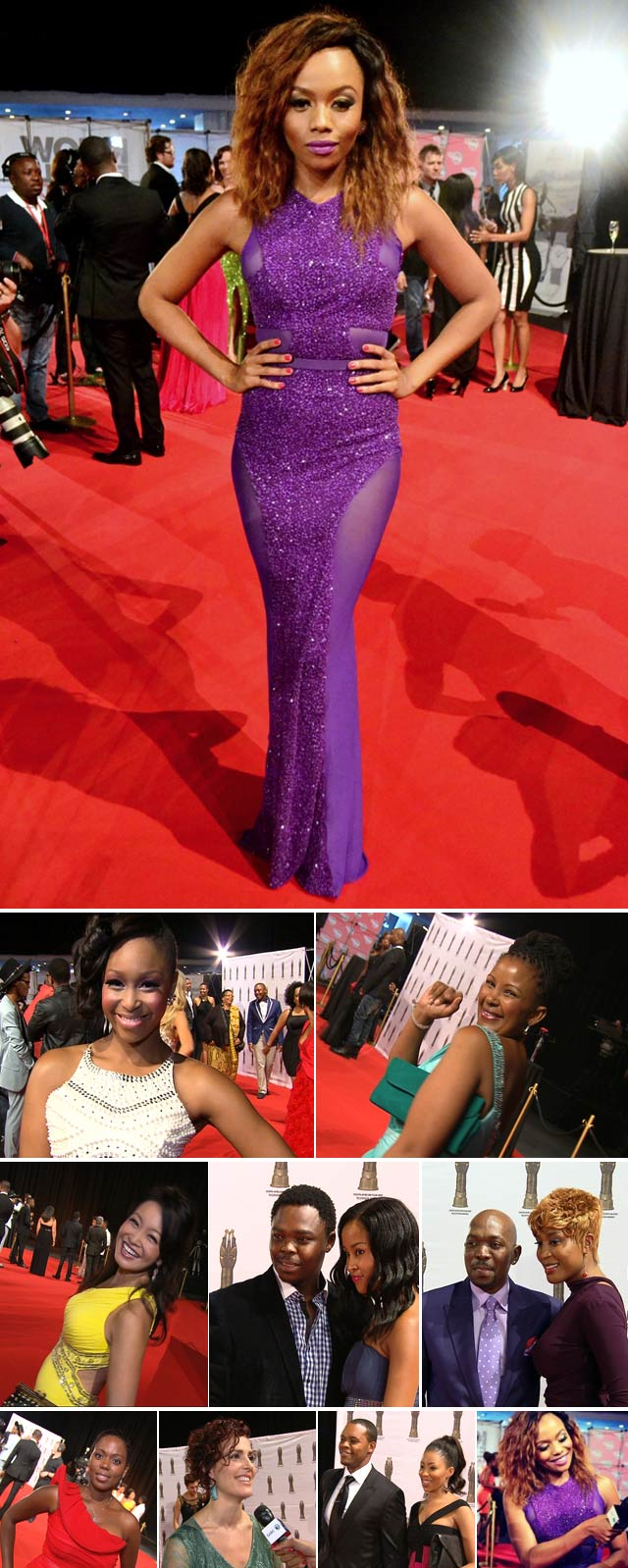 Top Billing presenter Bonang Matheba at the SAFTAs