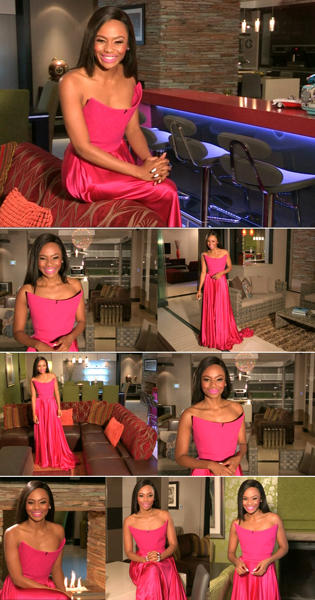 Bonang's pink dress