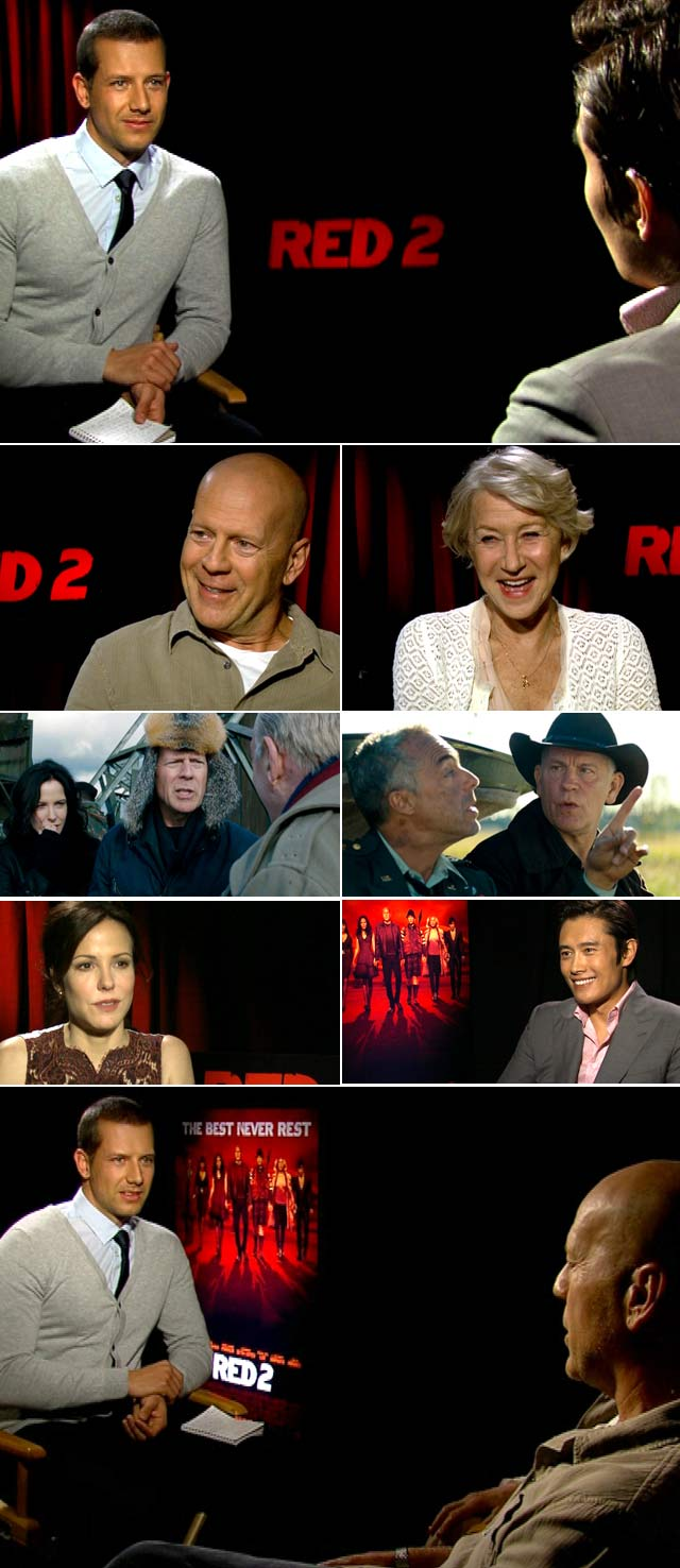 Jonathan interviews Bruce Willis and Helen Mirren