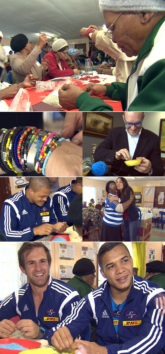 Beading for Mandela Day