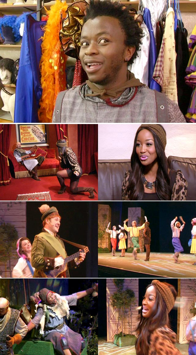 The cast of Spamalot interviewed on Top Billing