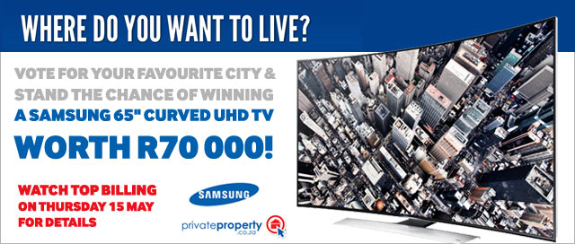 Win a Samsung curved uhd tv worth R70 000