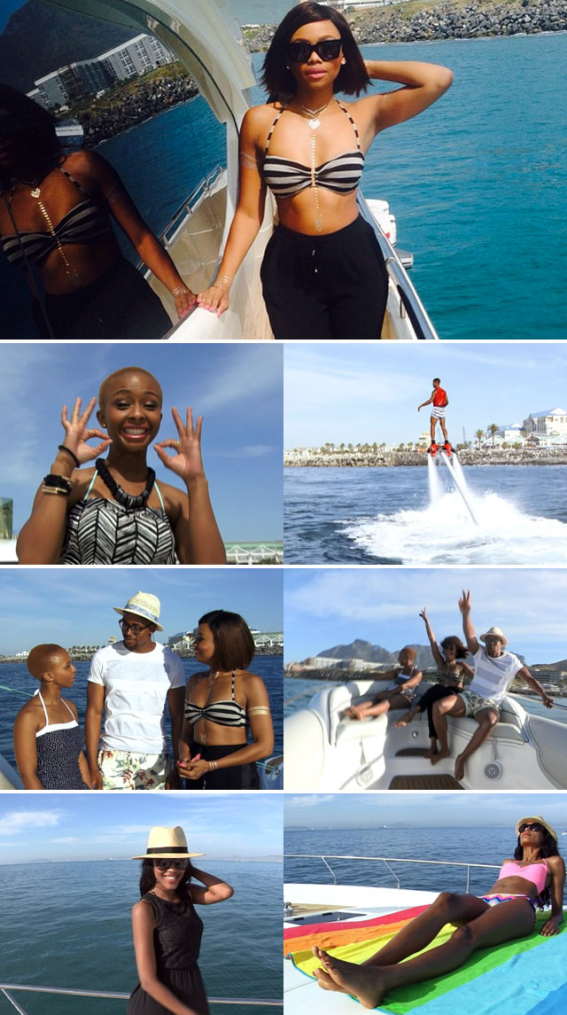 Bonang hosts a Yacht Party with Top Billing