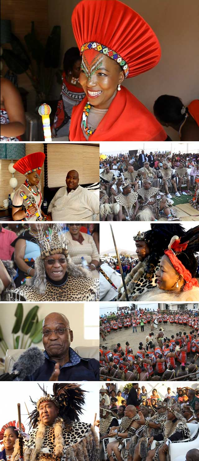 Top Billing attends the royal wedding of Khulubuse Zuma