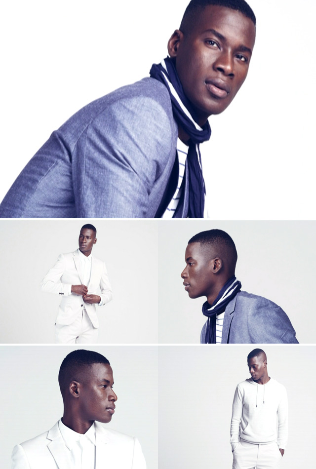 Top Billing meets model David Agbodji, the face of Woolworth's spring summer menswear collection