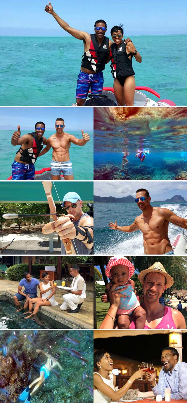 Gugu Zulu explores Club Med Mauritius with his family