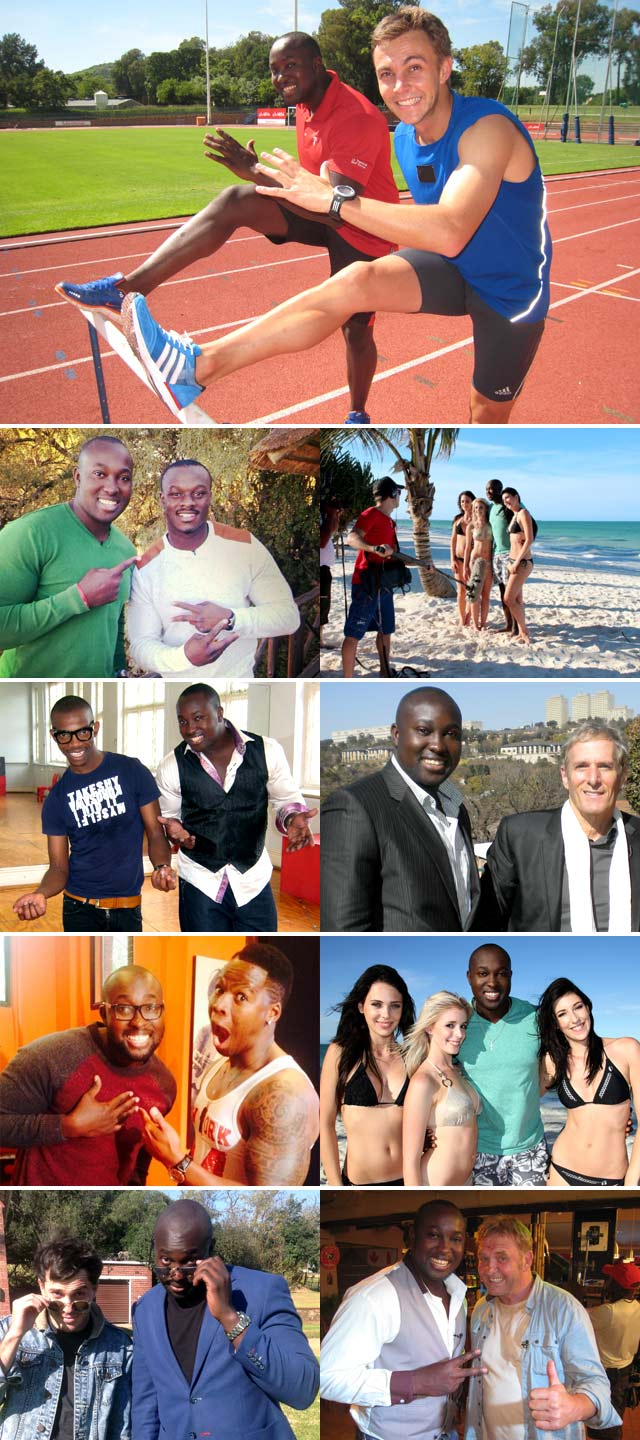Simba Mhere behind the scenes with celebrities on Top Billing