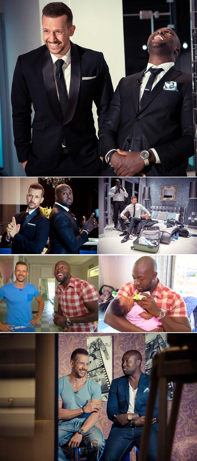 Simba Mhere and his best friend Top Billing presenter Jonathan Boynton Lee