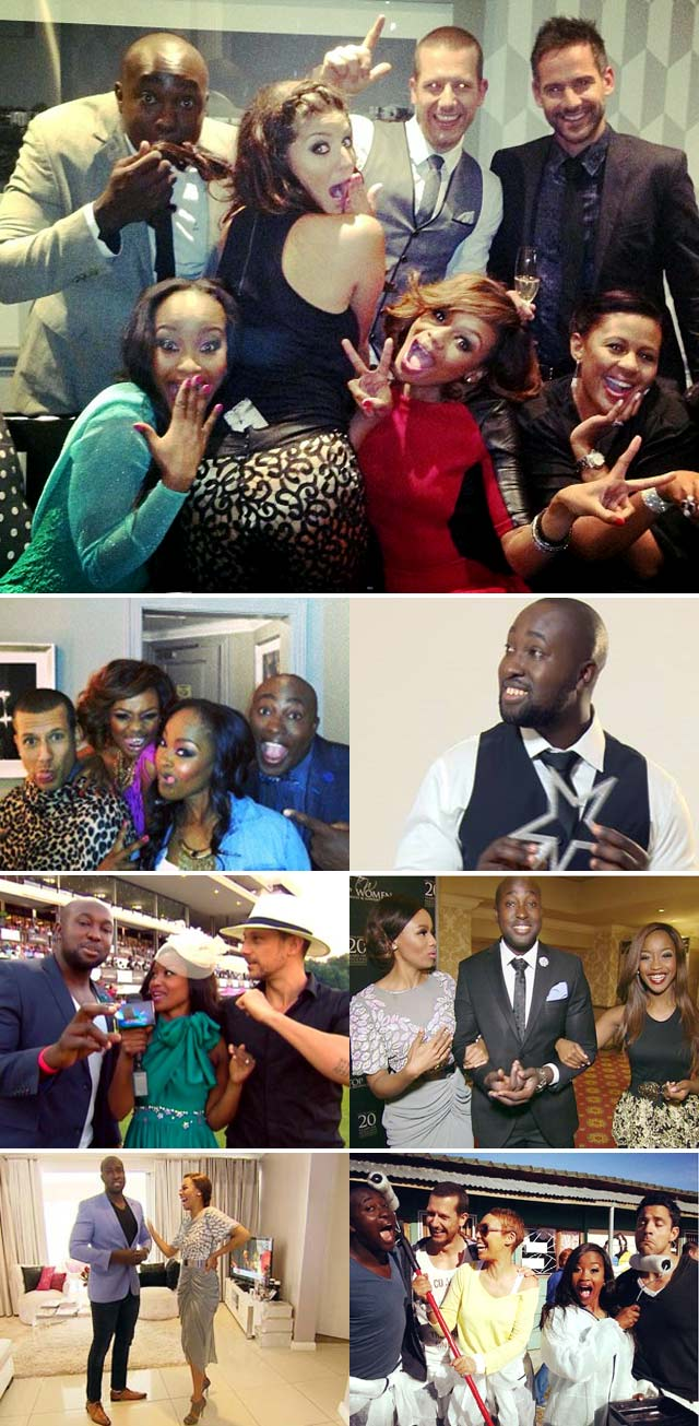 Simba Mhere and the Top Billing team and presenters