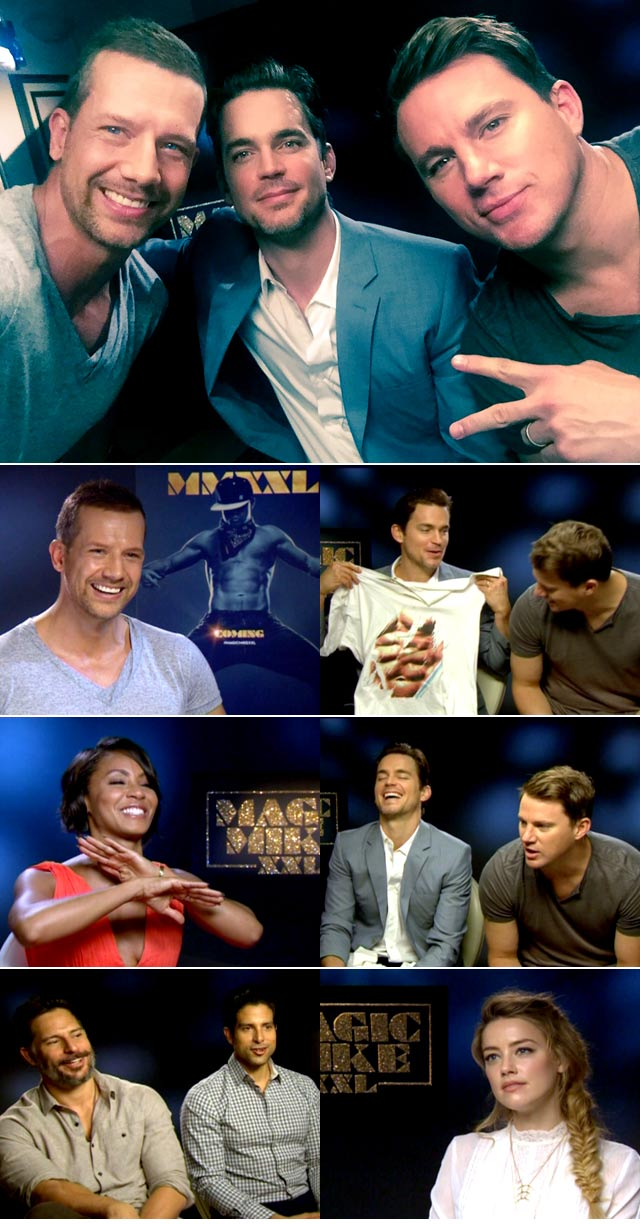Magic Mike cast interviews on Top Billing