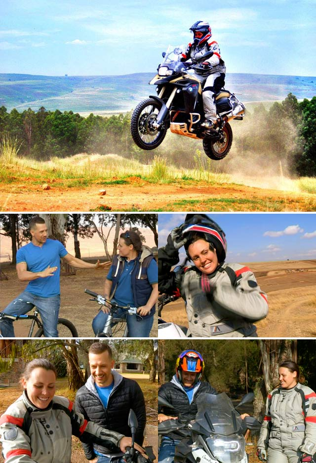 Adventure biker Jolandie Rust on Top Billing