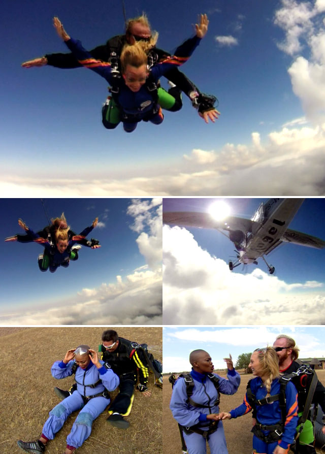 Top Billing takes actress  Zikhona Sodlaka skydiving