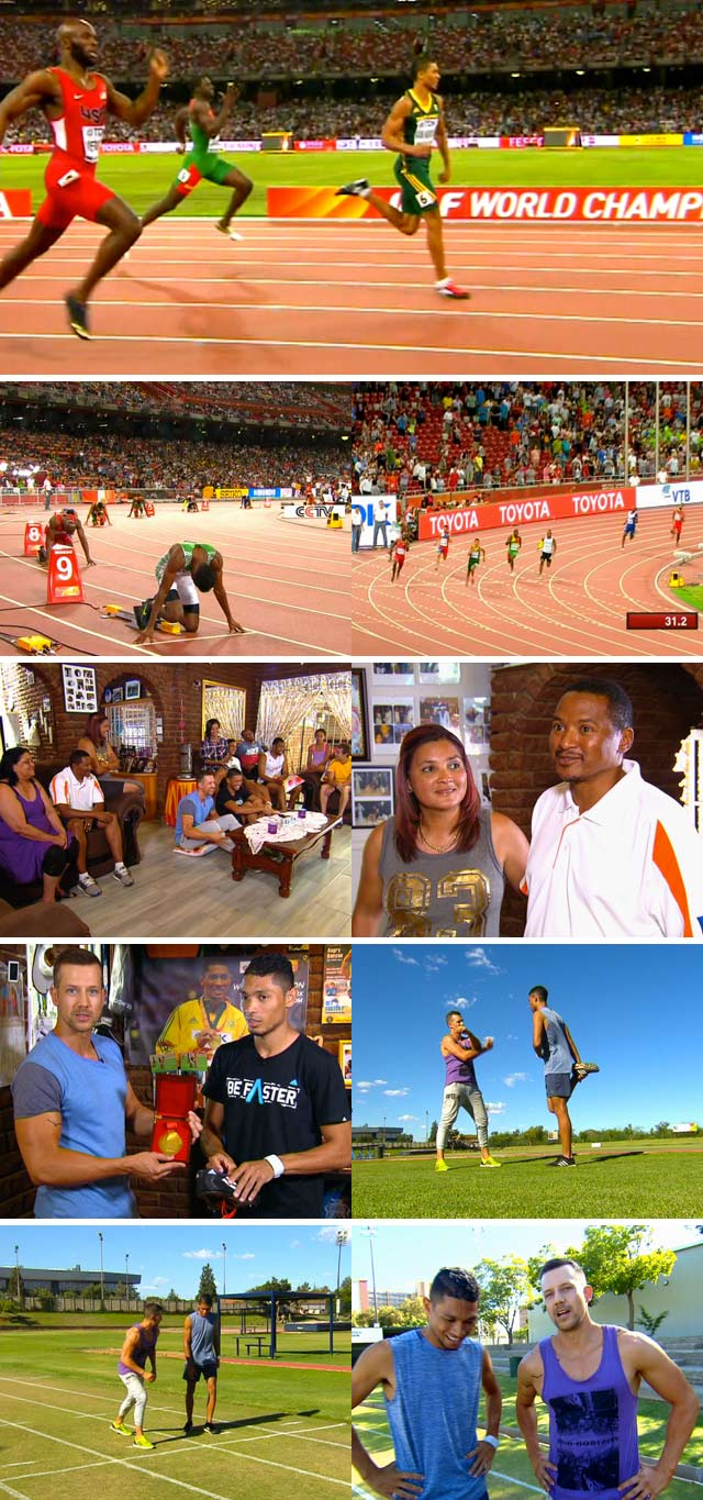 Wayde van Niekerk on Top Billing