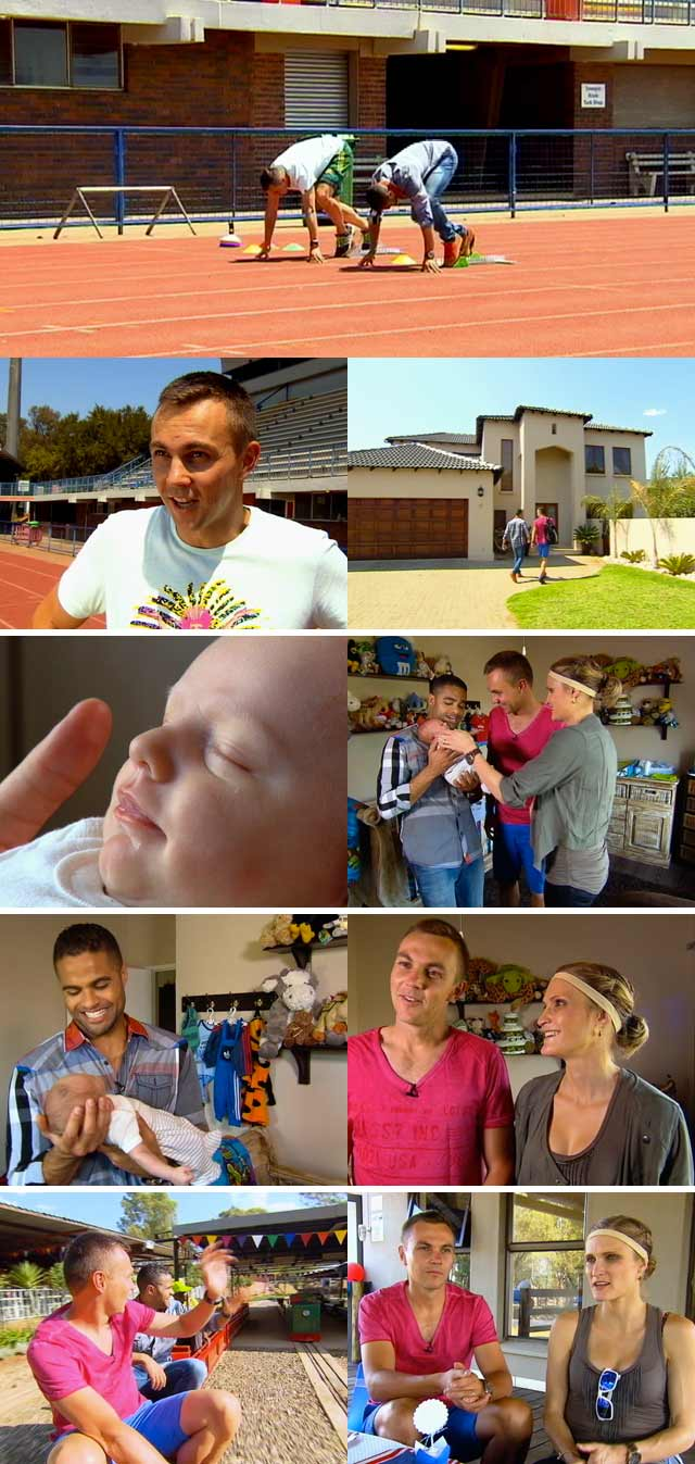 LJ van Zyl and his family on Top Billing