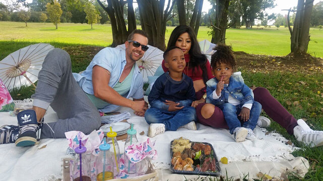 Kelly Khumalo and her children on Top Billing