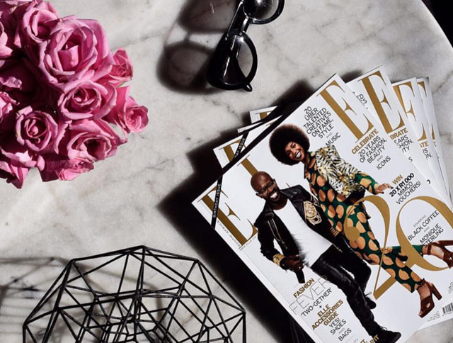 Elle magazine south africa birthday on Top Billing