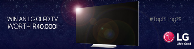 Win an LG TV worth R40 000 for Top Billings 25th birthday