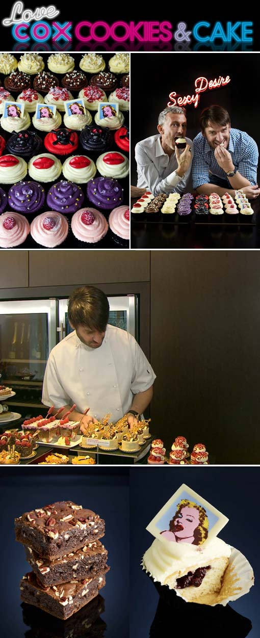 Eric Lanlard, Cox, Cookies and cake