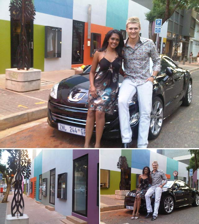 Denver Burns and Top Billing presenter Dhiveja take the Peugeot RCZ for a spin