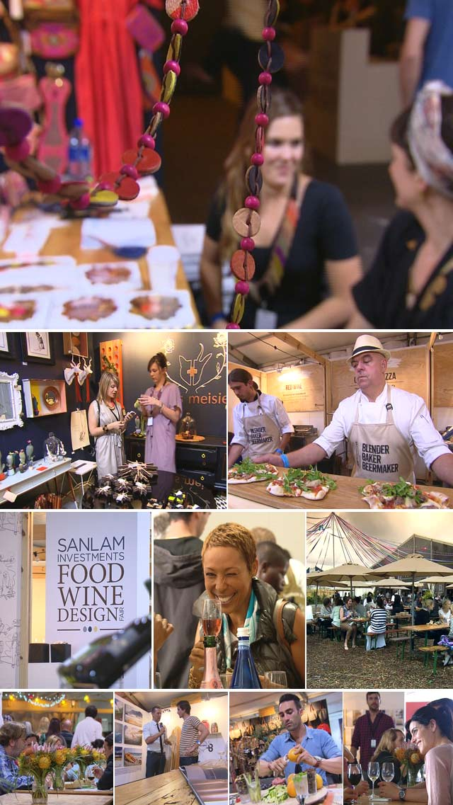 Food wine design fair on Top Billing