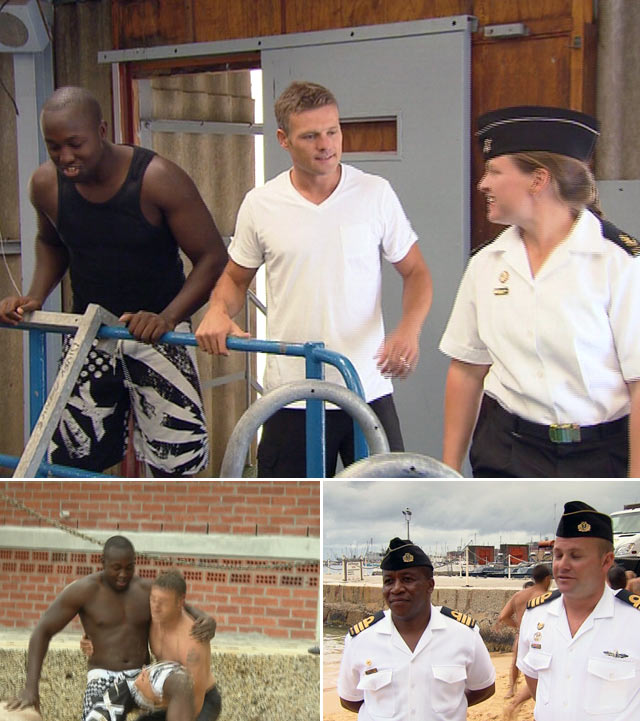 Top Billing presenter Simba takes part in the SA Navy challenge