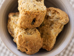 Cranberry and buttermilk rusks