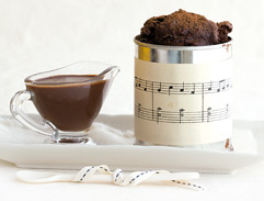 Espresso and pecan self-saucing chocolate pudding