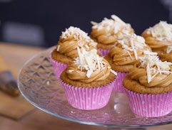 Salted Caramel and White Chocolate Cupcakes
