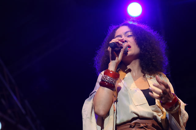 Amel Lerrieux performing at the Cape Town Jazz Festival