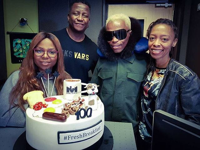 DJ Fresh celebrates the 100th Fresh Breakfast show in Metro